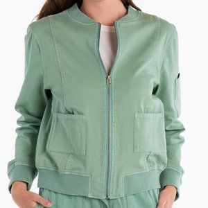 Fresh Produce lagoon Green Priya Bomber Jacket NWT